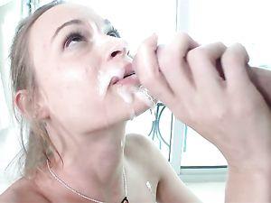 Teen Fuck Slut Rewarded With A Thick Facial Cumshot