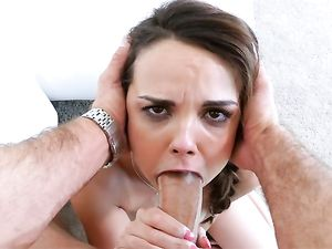 Wet Blowjob From A Big Tits Babe That Needs To Fuck