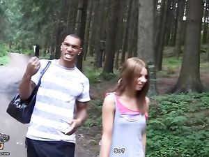 Public Pickup Of A Cute Teen They Fuck In The Forest