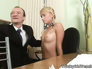 Sucking Perky Teen Titties Is Fun For The Old Guy