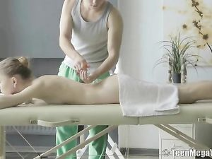 Skinny Hottie Fucked From Behind By Her Masseur