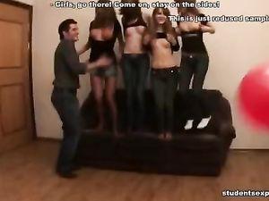 College Girls Suck Cock At A Hot Drunken Party