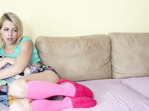 Convincing The Cute Blonde Teen To Go Anal