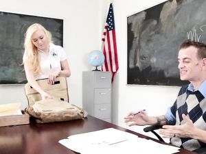 Teacher And His Hottest Student Fucking On His Desk