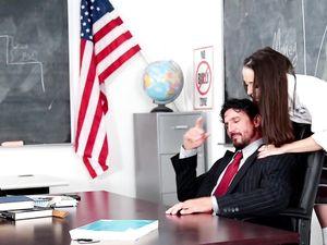 Schoolgirl Seductress Enjoys Big Teacher Cock