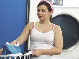 Curvy Young Slut Fucks A Stranger Doing Laundry