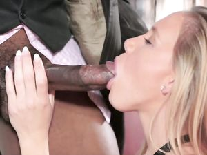 Petite Tattooed Blonde Teen Banged By A Monster Cock