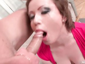 Short Haired Teen Slut Gagging During A Deepthroat BJ