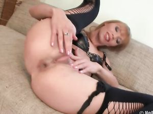 Lingerie Girl Anally Stretched By Big Toys