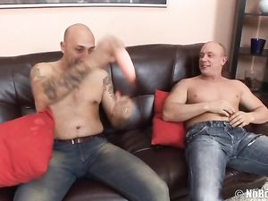 Roughly Fisted Girl Sucks Two Dicks Together