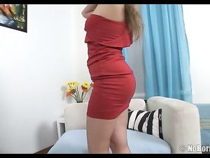 Curvy Ass Teen In A Pretty Dress Bent Over And Fucked