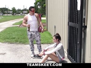 Football And Fucking With A Super Hot Teen Chick