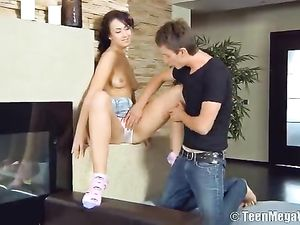 Teen Panty Girl Bends Over And Gets Banged Doggystyle