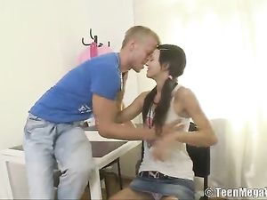 Pretty Girl In Pigtails Loves A Great Hardcore Fucking