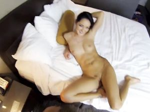 Burying Dick In The Brunette Slut In His Hotel Room