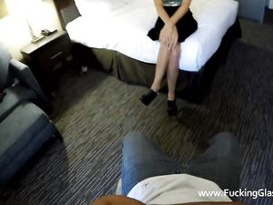 Tattooed Escort In A Sexy Dress Fucking Him In POV
