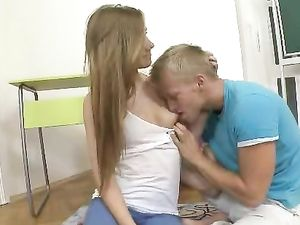 Tit And Pussy Licking Guy Gets To Fuck The Teen Girl