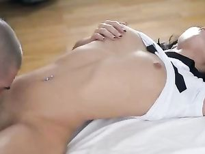Dark Haired Teen Fucks Like A Wild Beauty Should
