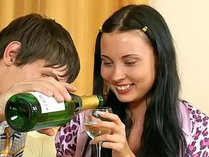Champagne Toast And A Hardcore Fuck With A Hot Girl