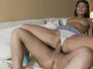 Deepthroating Teen Girl Gets Him Hard For Anal Sex