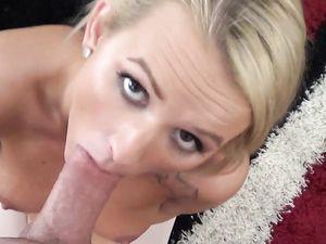 Sexy Blonde Girlfriend In White Tights Fucks In POV