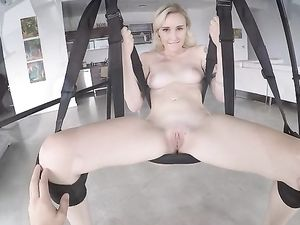 Babe In A Sex Swing Wants Your Dick Inside Her