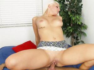 Curves And Bleach Blonde Hair On A Hardcore Miniskirt Slut
