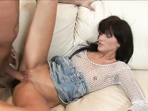 Slut Sucks A Big Dick That Fucks Her In The Ass