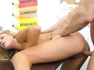Schoolgirl Heather Starlet Fucked On A Desk