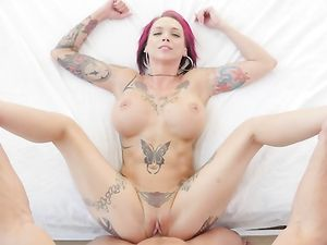 Tattooed Goddess Anna Bell Peaks Fucks Passionately