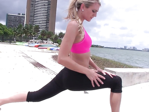 Workout Babe Amanda Tate Fucks For Fitness