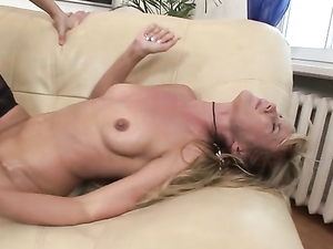 Naughty Lesbian Whore Has Huge Strapon Anal Sex