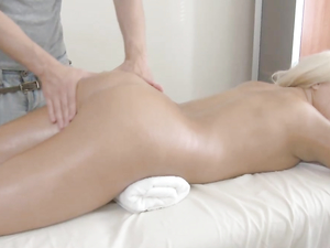 Big Butt Blonde Teen Fucked By The Masseur