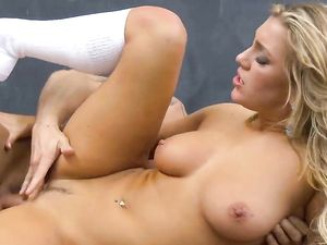 Slutty Blonde Schoolgirl Services Her Horny Teacher