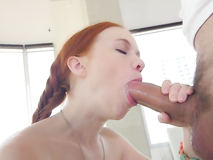 Redhead Dolly Little Loves Big Cock In Her Tight Pussy