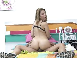 Busty Teen Gets Her Mouth And Her Pussy Fucked