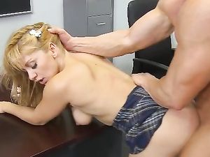 Flexible Student Fucking Her Teacher In The Classroom