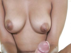 Handjob And Sweet Fucking With A Brunette Chick