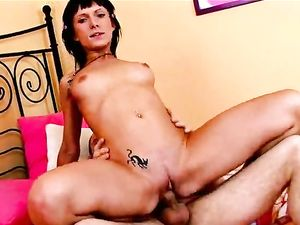 Russian Brunette Teen Riding Her Boyfriend's Cock